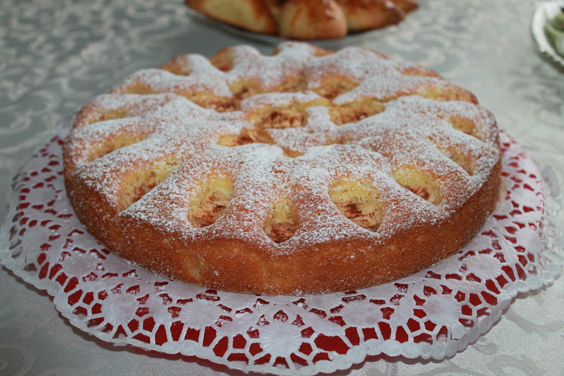 Obuolių pyragas.