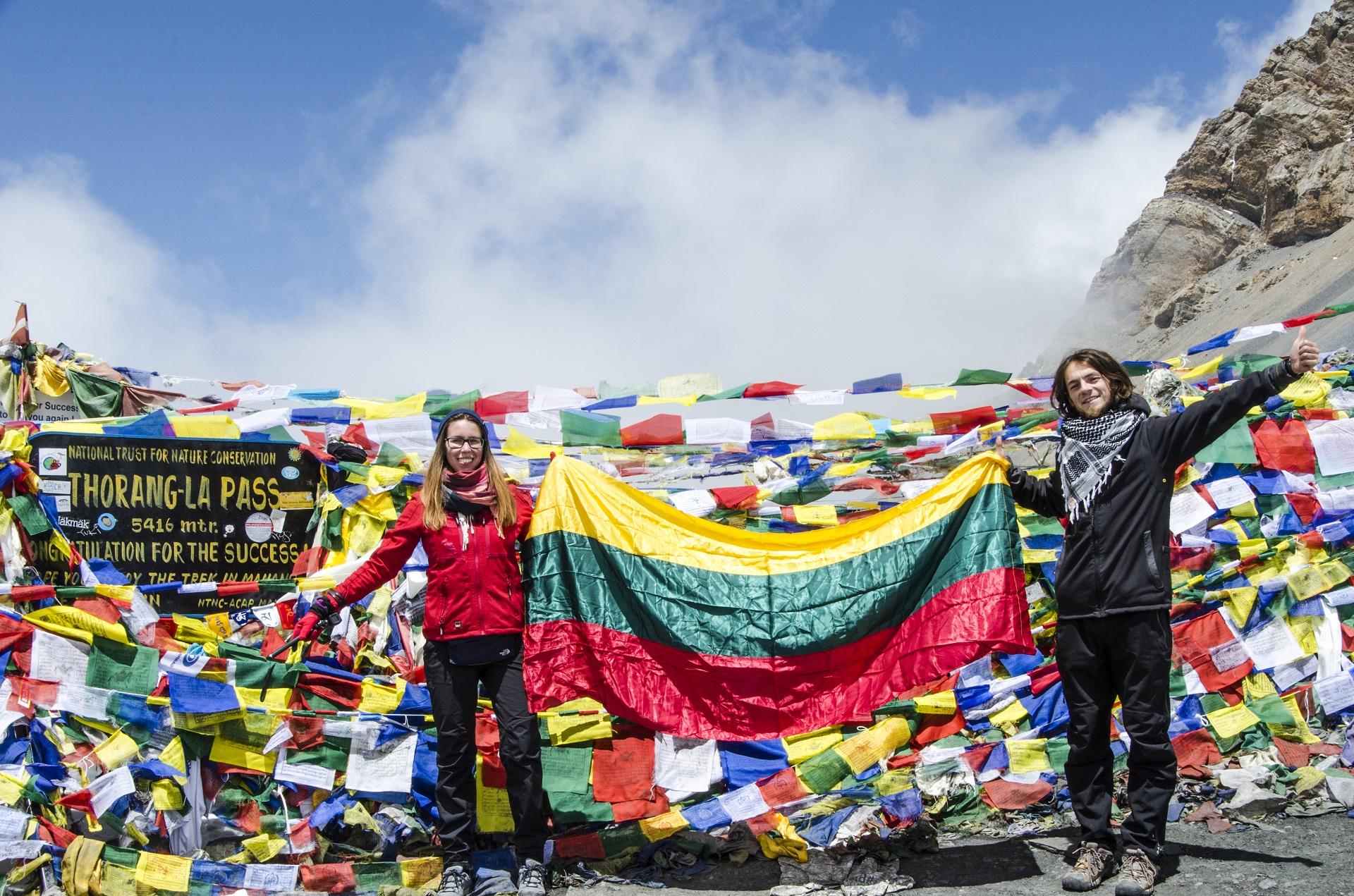 Nieko baisaus!!!! – tik pasivaikščiojimas 5416 metrų aukštyje. Anapurnos ratas, Thorang-La perėja, Nepalas. Asmeninio archyvo nuotr.