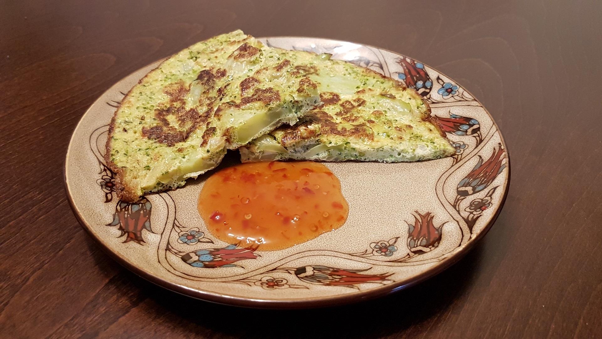 Brokolių omletas. Asmeninio archyvo nuotr.