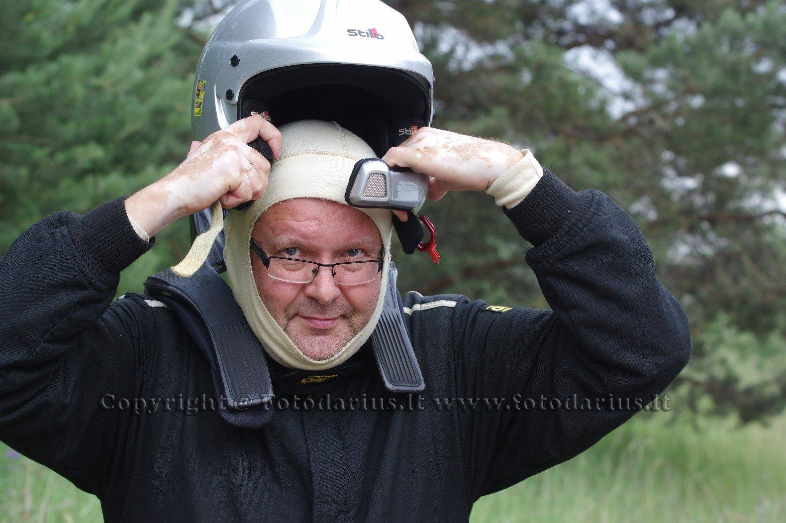 Ilgametis automobilių ralio dalyvis, šturmanas Edvinas Pagirskas prie Pelėdnagių seniūnijos vairo stojo pernai./ Fotodarius.lt nuotr.