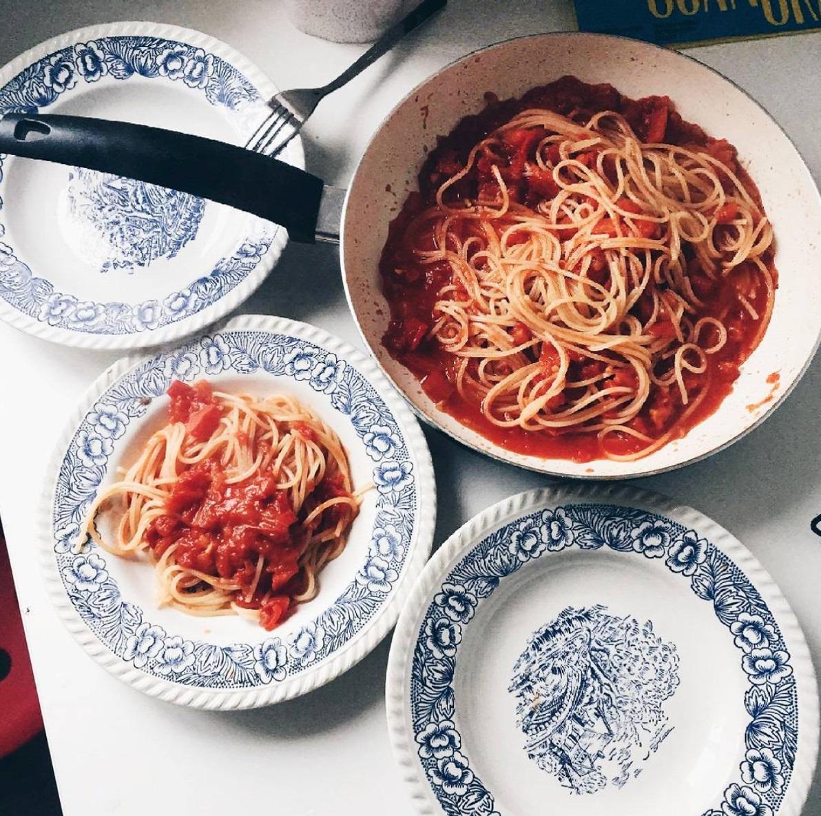 Česnakinė pasta – Spaghetti aglio e olio. Asmeninio archyvo nuotr.