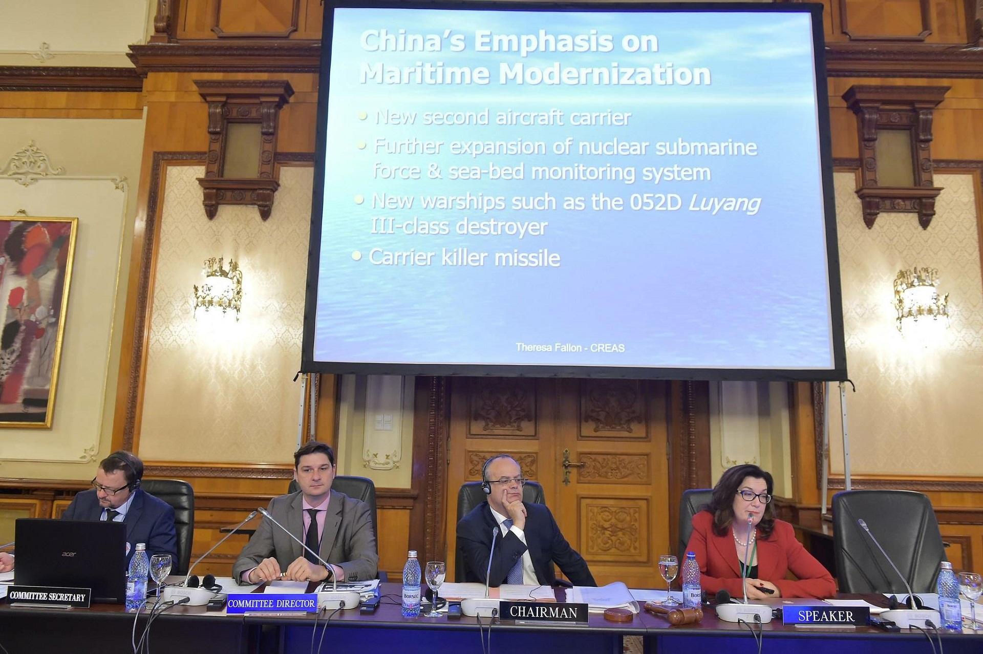 NATO Parlamentinės Asamblėjos Pilietinio saugumo komiteto posėdžio akimirka. Andrius Avižius – antras iš kairės. Asmeninio archyvo nuotr.