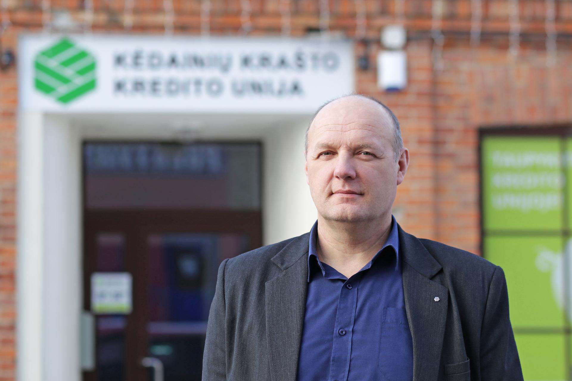 Kėdainių krašto kredito unijos administracijos vadovas Egidijus Žaltauskas.