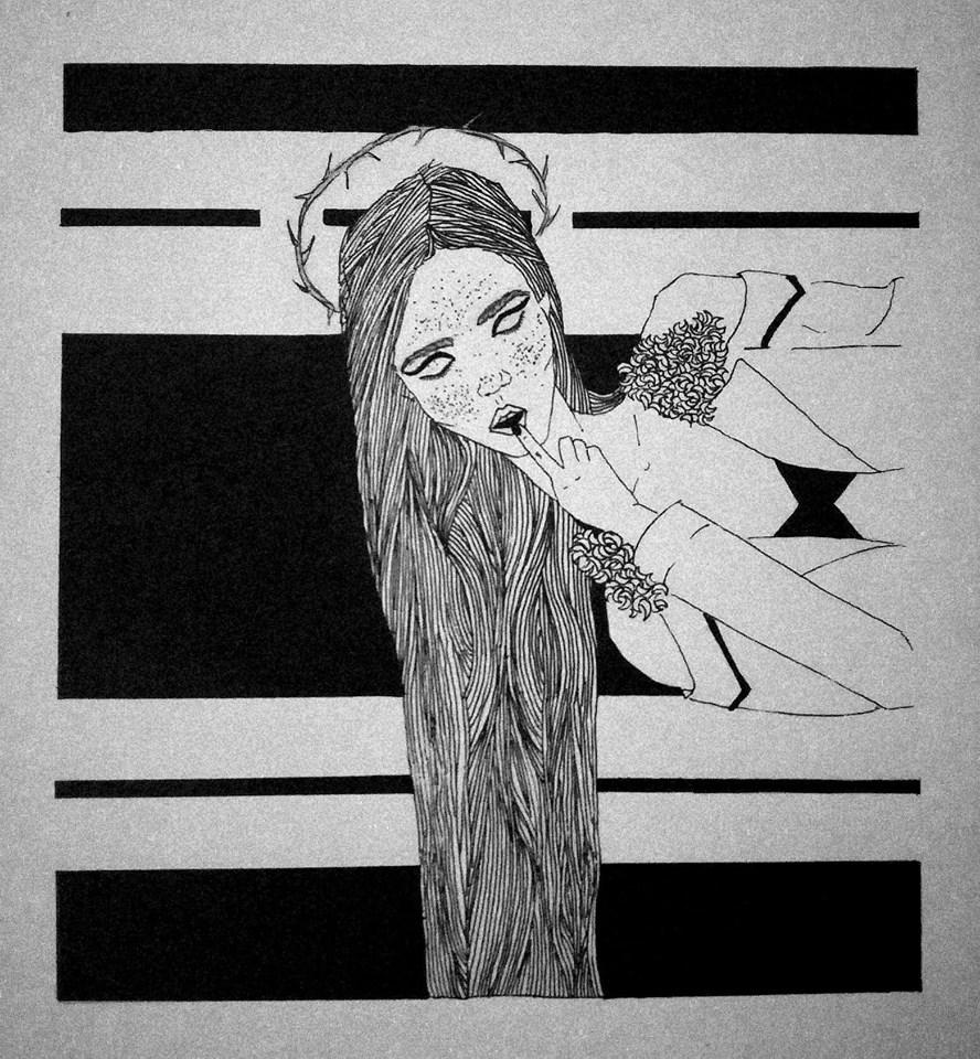 """""""Mano piešiniai yra paprasti, minimalistiniai. Patinka paprastumas, grynumas, net tam tikras asketiškumas"""", – apie savo kūrybą sako I. Raudeliūnaitė."""