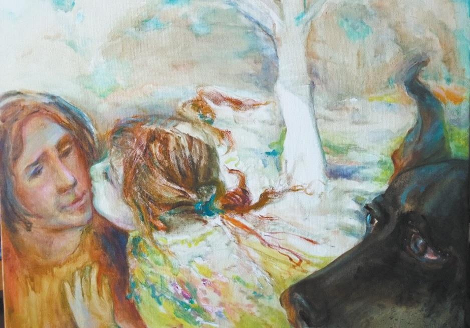 Irinos įamžinta miela trijulė: ji su anūke ir mylėtu šuneliu, kurio, deja, jau nebėra. Asmeninio archyvo nuotr.