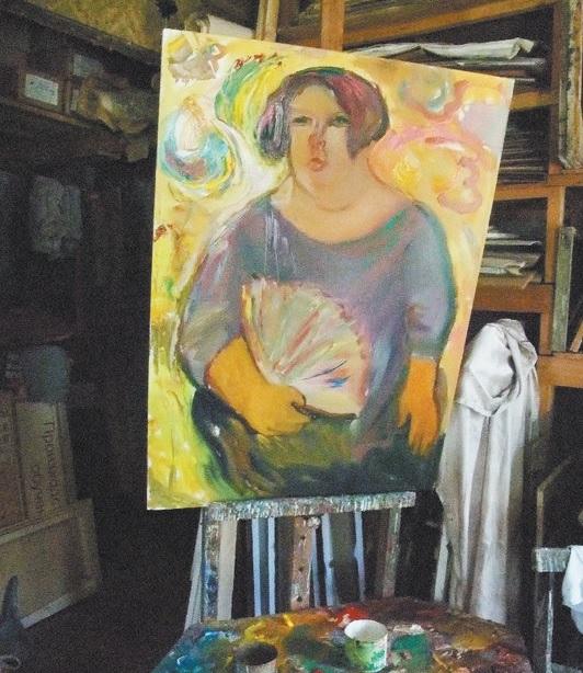Irinos Dima portretas, kurį nutapė jos artima bičiulė garsi menininkė iš gimtojo miesto Vologdos. Asmeninio archyvo nuotr.