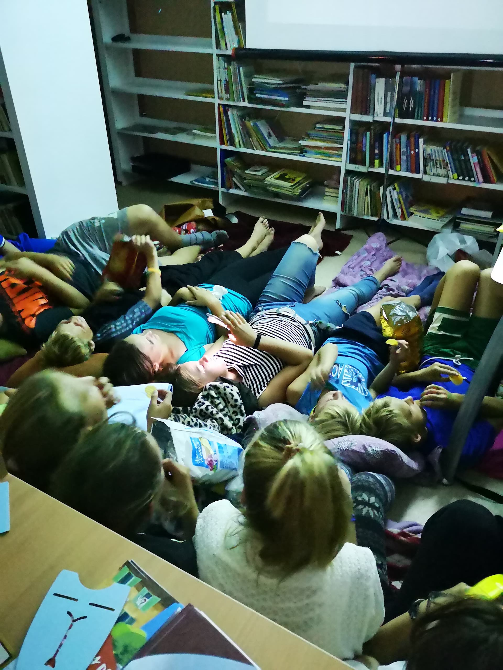 """Renginio """"Naktis bibliotekoje"""" vaikai laukia su nekantrumu. Asmeninio archyvo nuotr."""