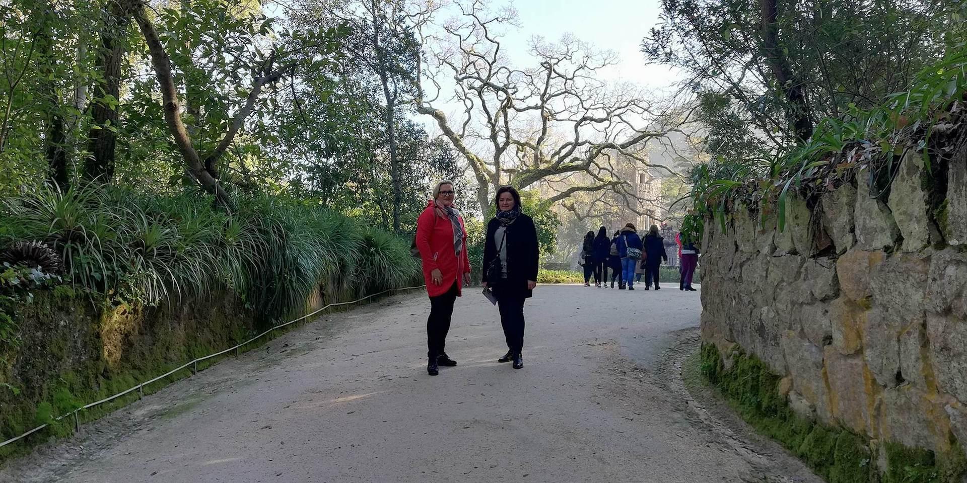 """Sausio 14–20 dienomis """"Erasmus+"""" projekto C.L.E.V.E.R. vykdymo grupės narės Jurgita Vaitiekūnienė ir Gintarė Ivaškevičiūtė-Dirdė lankėsi Portugalijoje. Asmeninio archyvo nuotr."""