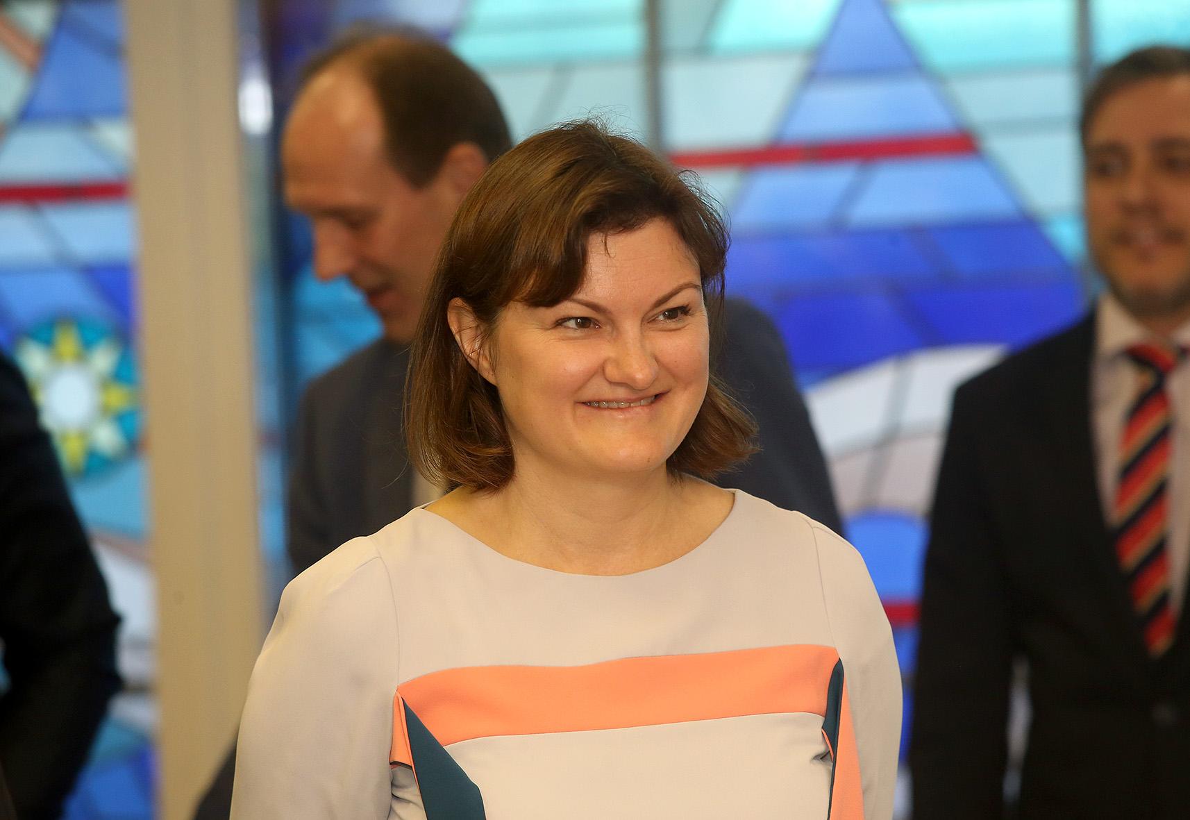 """Karolina Štelmokaitė: """"Mes nešvaistome lėšų. Mes didiname energetinį efektyvumą pastatų."""" / A. Barzdžiaus nuotr."""