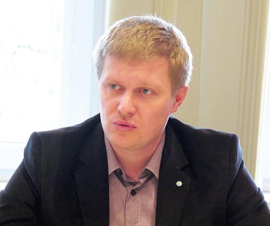 """Vienintelio Lietuvoje specializuoto draudiko """"Vereinigte Hagel"""" vadovo pavaduotojas Martynas Rusteika."""