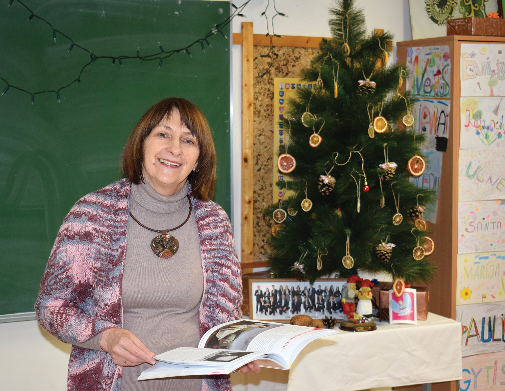 Josvainių gimanzijos lietuvių kalbos mokytoja Onutė Jačiunskienė. Asmeninio archyvo nuotr.