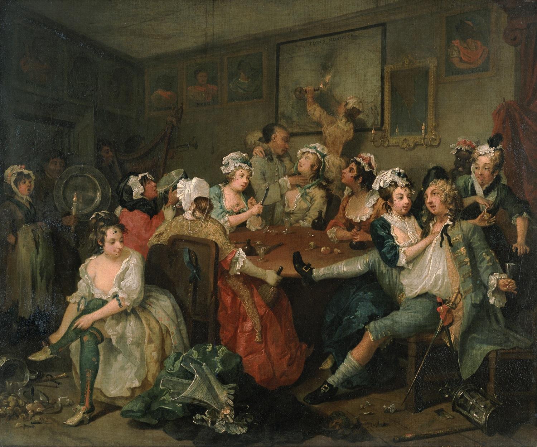 XVIII a. tavernos gyvenimas. Sir John Soane's Museum, London