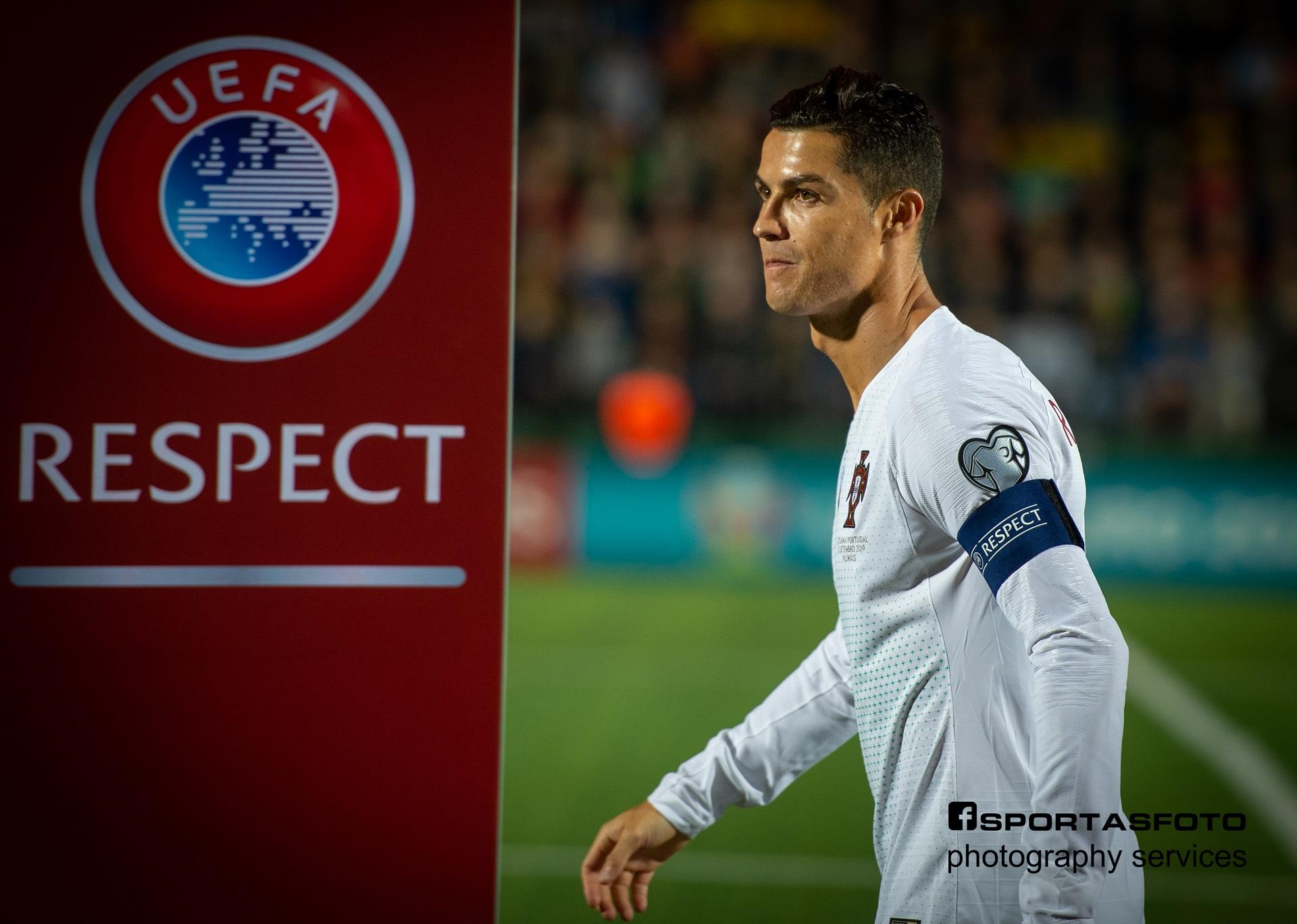 Christiano Ronaldo buvo vienas iš Ernesto Zarnadzės svajonių kadrų, kuris, kaip jis pats sako, pakankamai nesunkiai išsipildė. / Ernesto Zarnadzės nuotr.