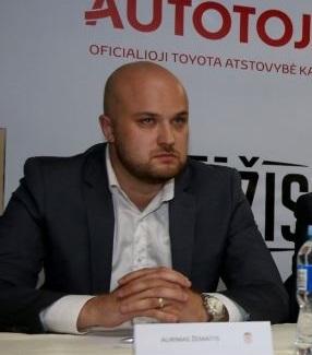 """Klubo dalininkas Aurimas Žemaitis tikina, kad žaidėjų nepaliks likimo valioje: """"Mes bandysime ieškoti kompromiso, išmokėti kažkokias kompensacijas, gal tą naštą per pusę pasidalinti"""", – pažadėjo verslininkas. / LKL nuotr."""