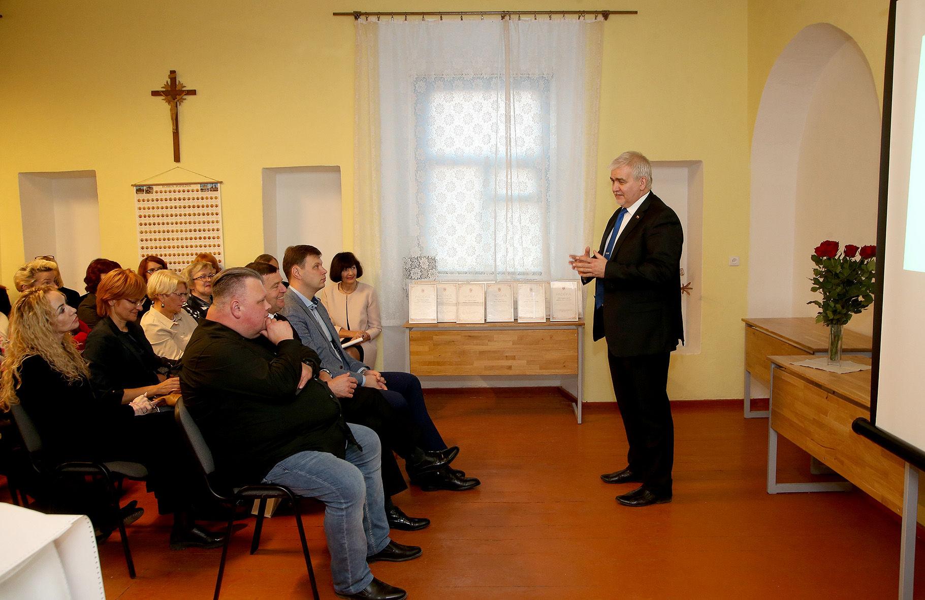 Renginyje dalyvavo ir gražia iniciatyva džiaugėsi Seimo narys Darius Kaminskas. / A. Barzdžiaus nuotr.
