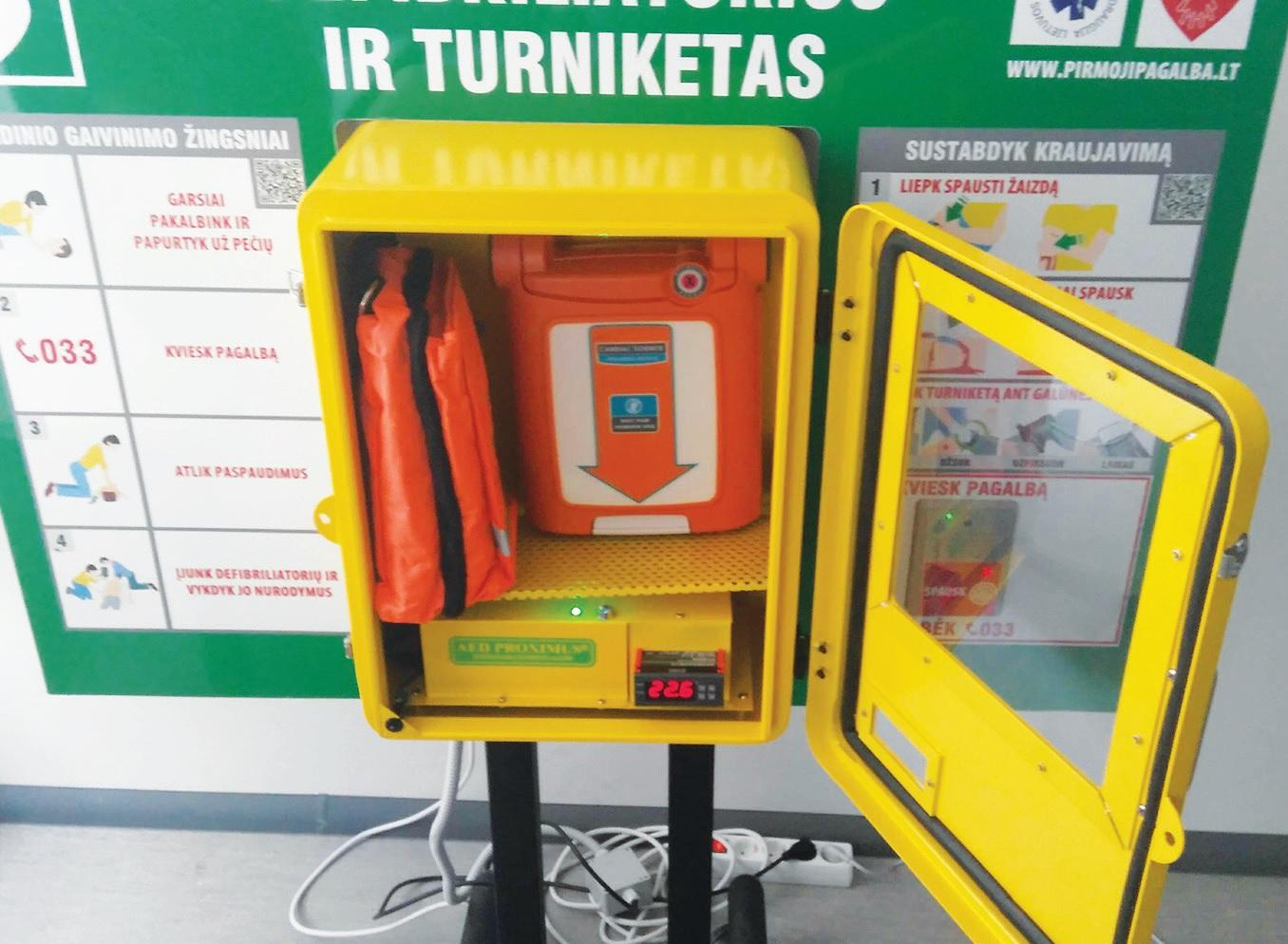 """Kol kas Kėdainiuose yra tik trys vieši defibriliatoriai. Vienas iš jų – """"Lidl"""" prekybos centre."""