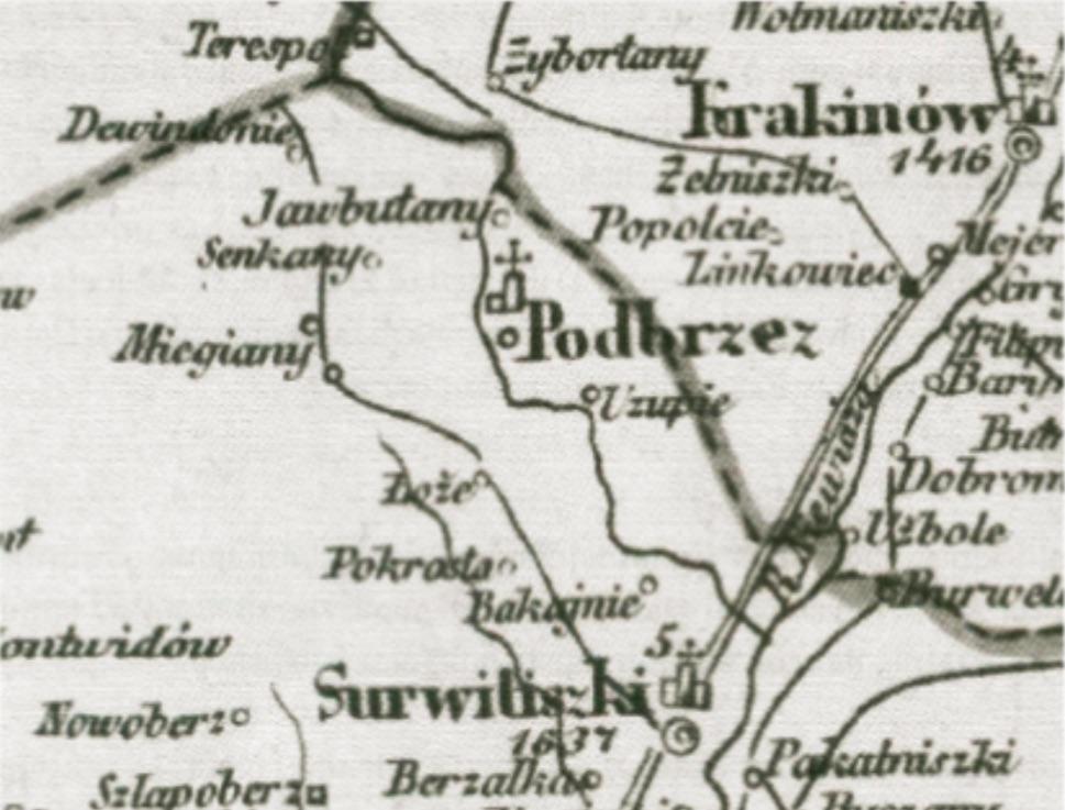 Dewindonie. Juozapo Juzumo 1855 m. žemėlapis.