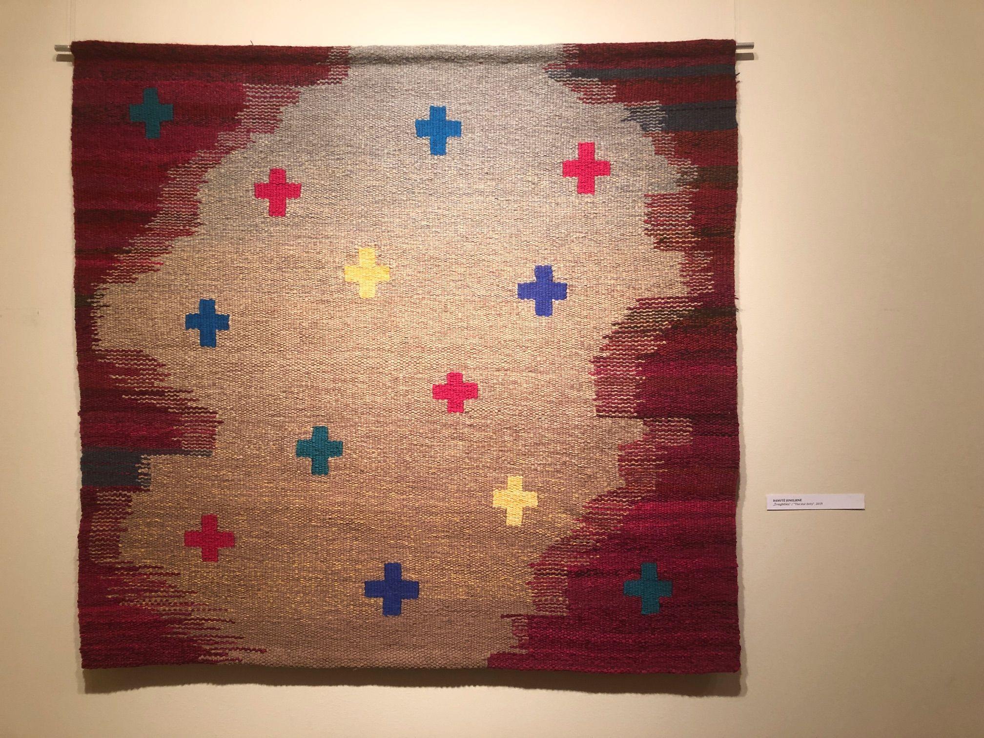 """Menininkės Danutės Jonelienės kūrinys """"Žvaigždikis"""" simbolizuoja dangaus ir žemės sąjungą. / D. Borodinaitės nuotr."""