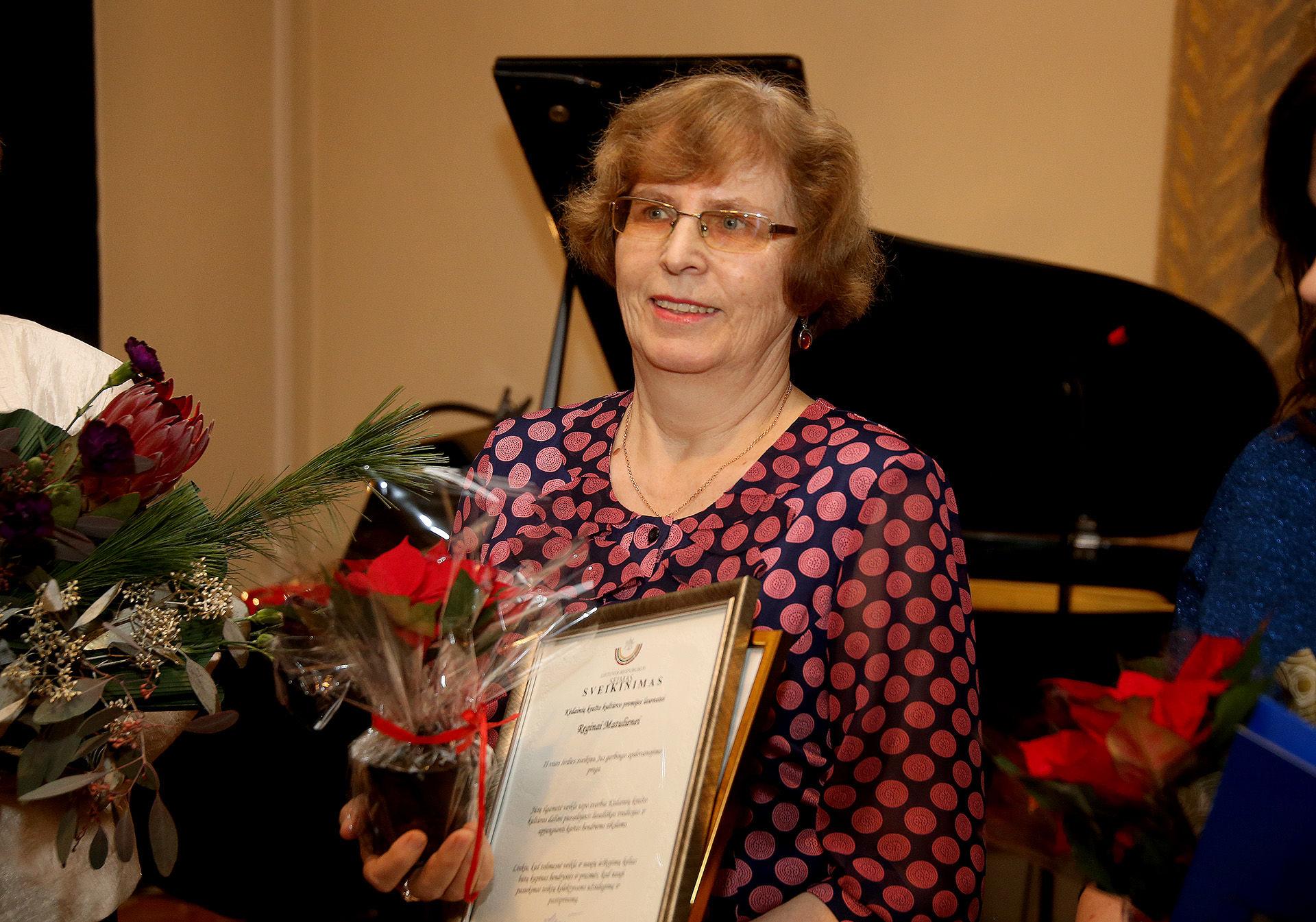 Šiemet Krašto kultūros premijos laureate tapo choreografė Regina Matulienė. / A. Barzdžiaus nuotr.