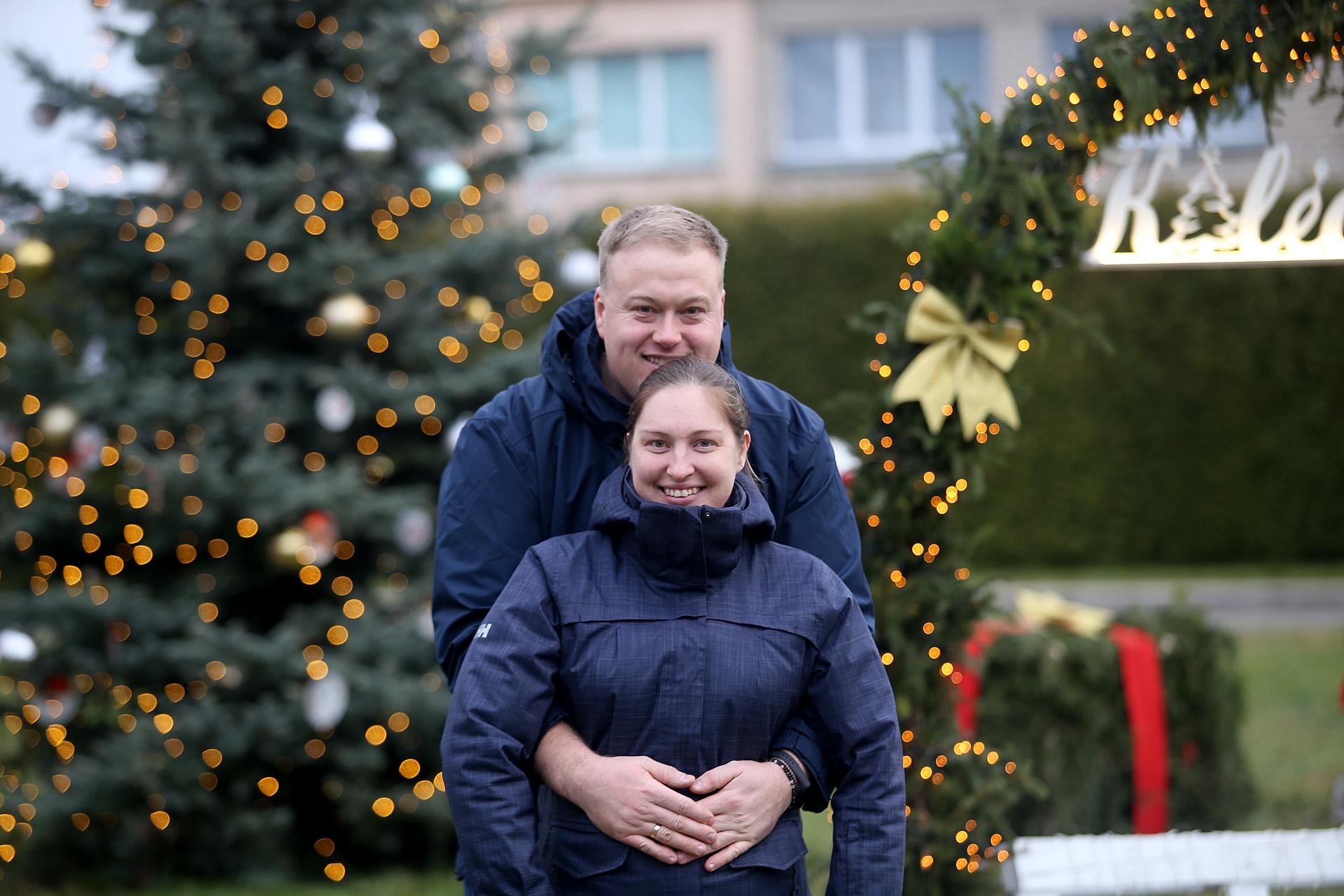 Pasiruošimo darbuose dalyvavo ir Labūnavos bendruomenės centro aktyvistai Edita ir Paulius Baltrušaičiai. / A. Barzdžiaus nuotr.