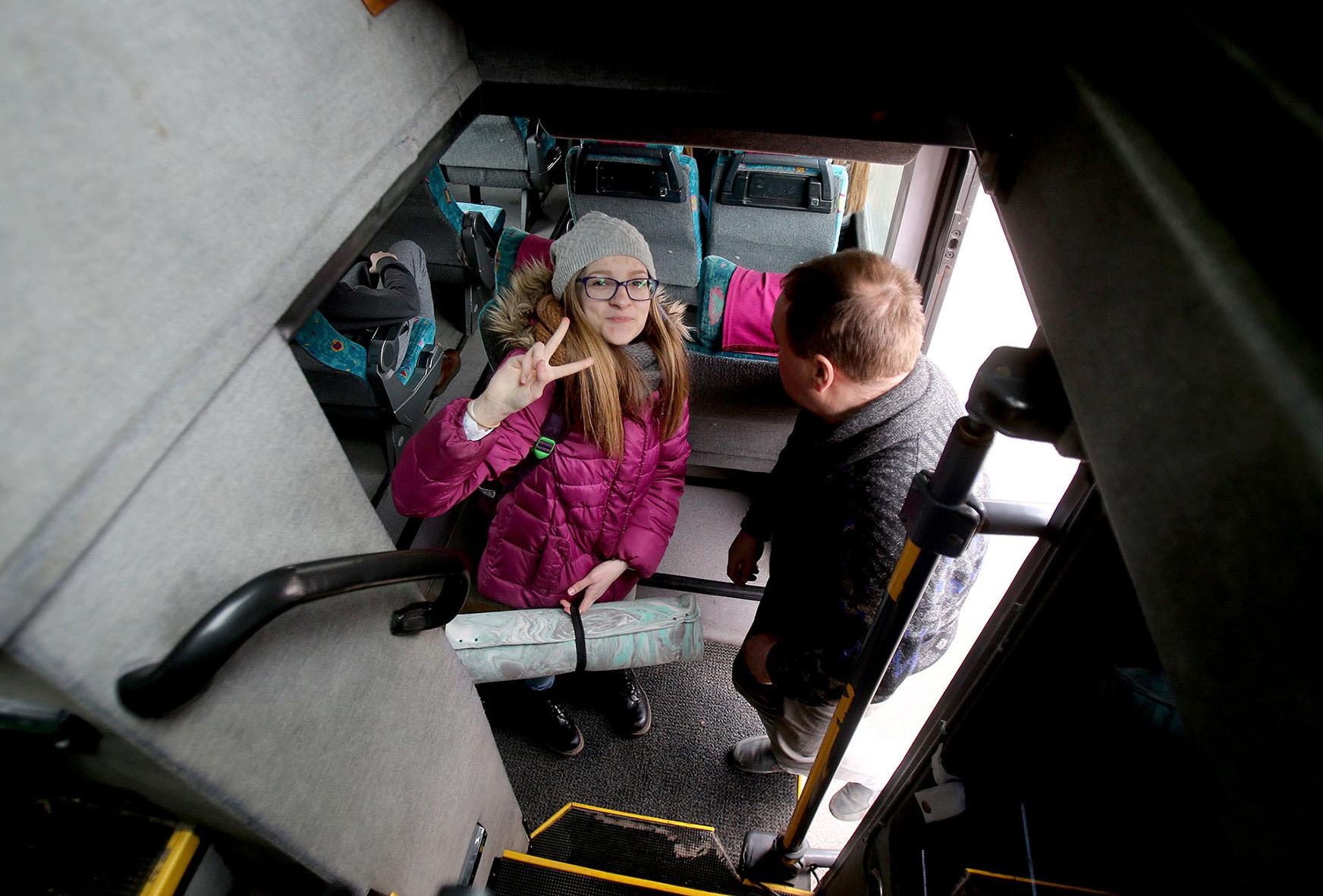 Mokiniai tobulėja ne tik mokyklos erdvėse vykstančiuose užsiėmimuose, bet ir keliaudami. Artimiausiuose planuose – kelių dienų išvyka į Rygą bei savaitės viešnagė Islandijoje. A. Barzdžiaus nuotr.