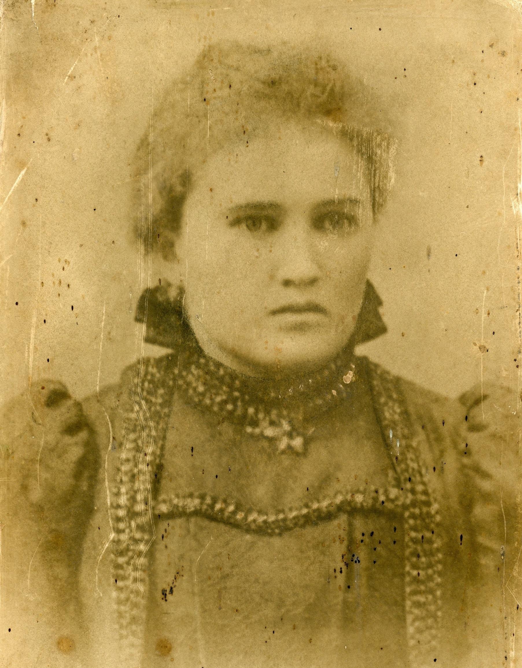 Kraštiečio Vido Kvedžio močiutė Antanina Jašinskaitė-Kvedienė, 1900 m. Asmeninio archyvo nuotr.
