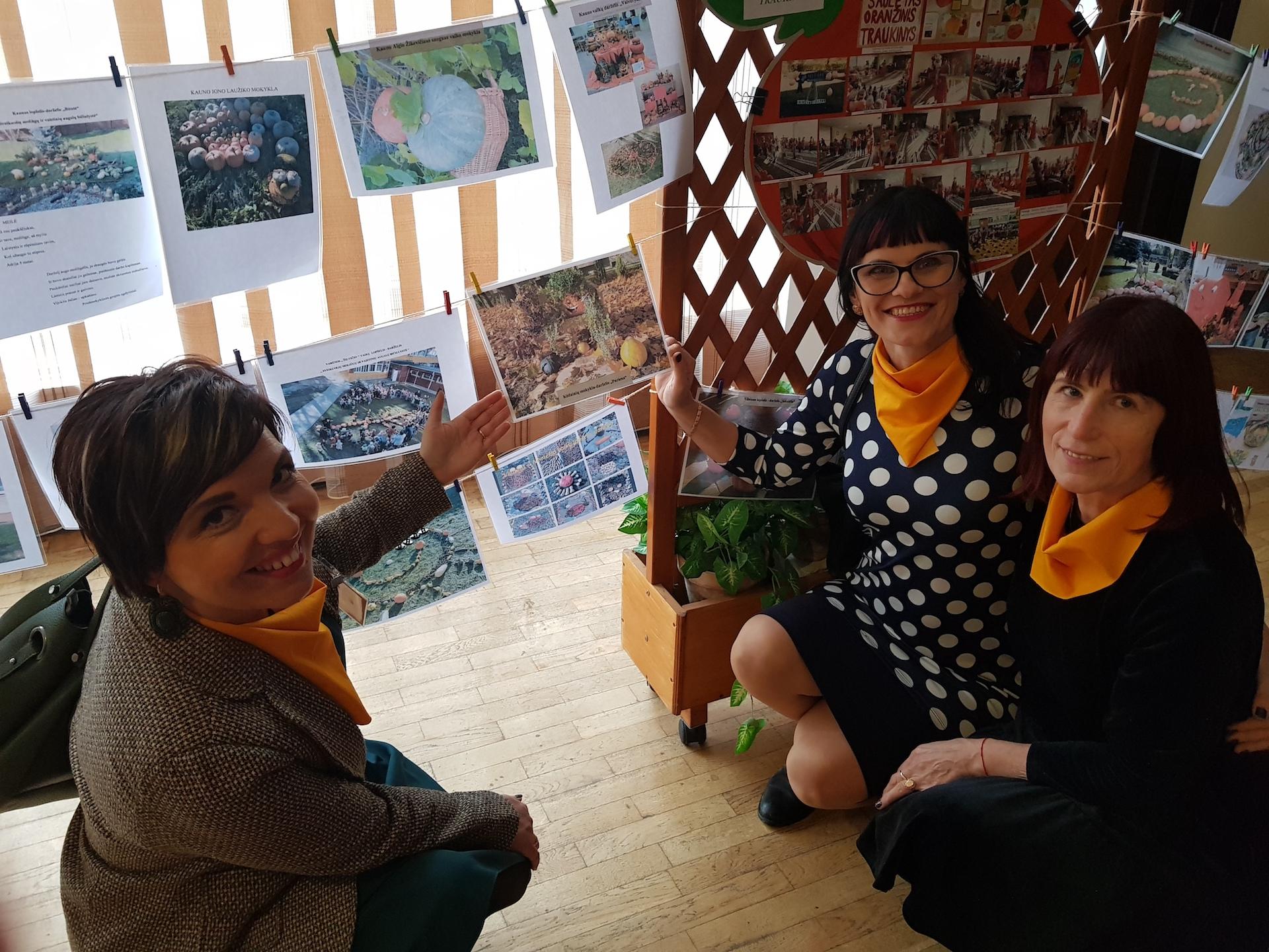 """Kėdainių lopšelio-darželio """"Puriena"""" pedagogės Evelina Rajunčienė, Aldona Mikolajūnienė ir Marytė Mockienė. Asmeninio archyvo nuotr."""