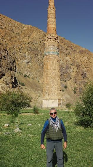 Gintaras Bagdonas džiaugiasi turėjęs galimybę Ghoro provincijoje pamatyti unikalų islamo kultūros paminklą – Džamo (Jam) minaretą. / Asmeninio archyvo nuotr.