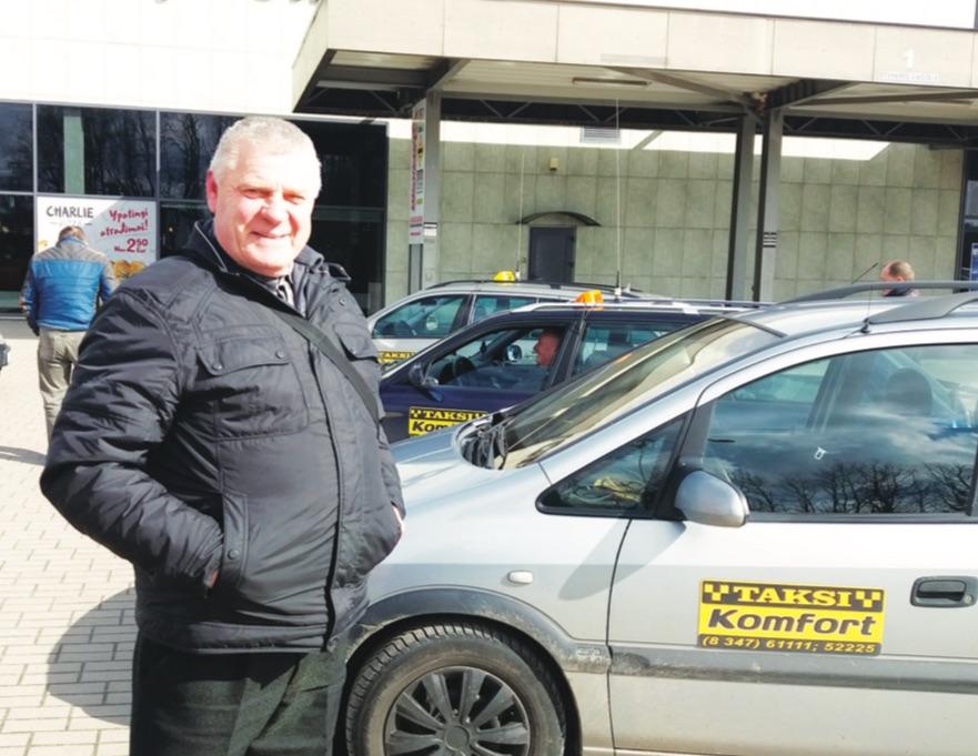 Kėdainių taksistas Jonas Gaubys nerimauja dėl nevienodų konkurencijos sąlygų taksistams ir pavėžėjams. K. Mirvienės nuotr.