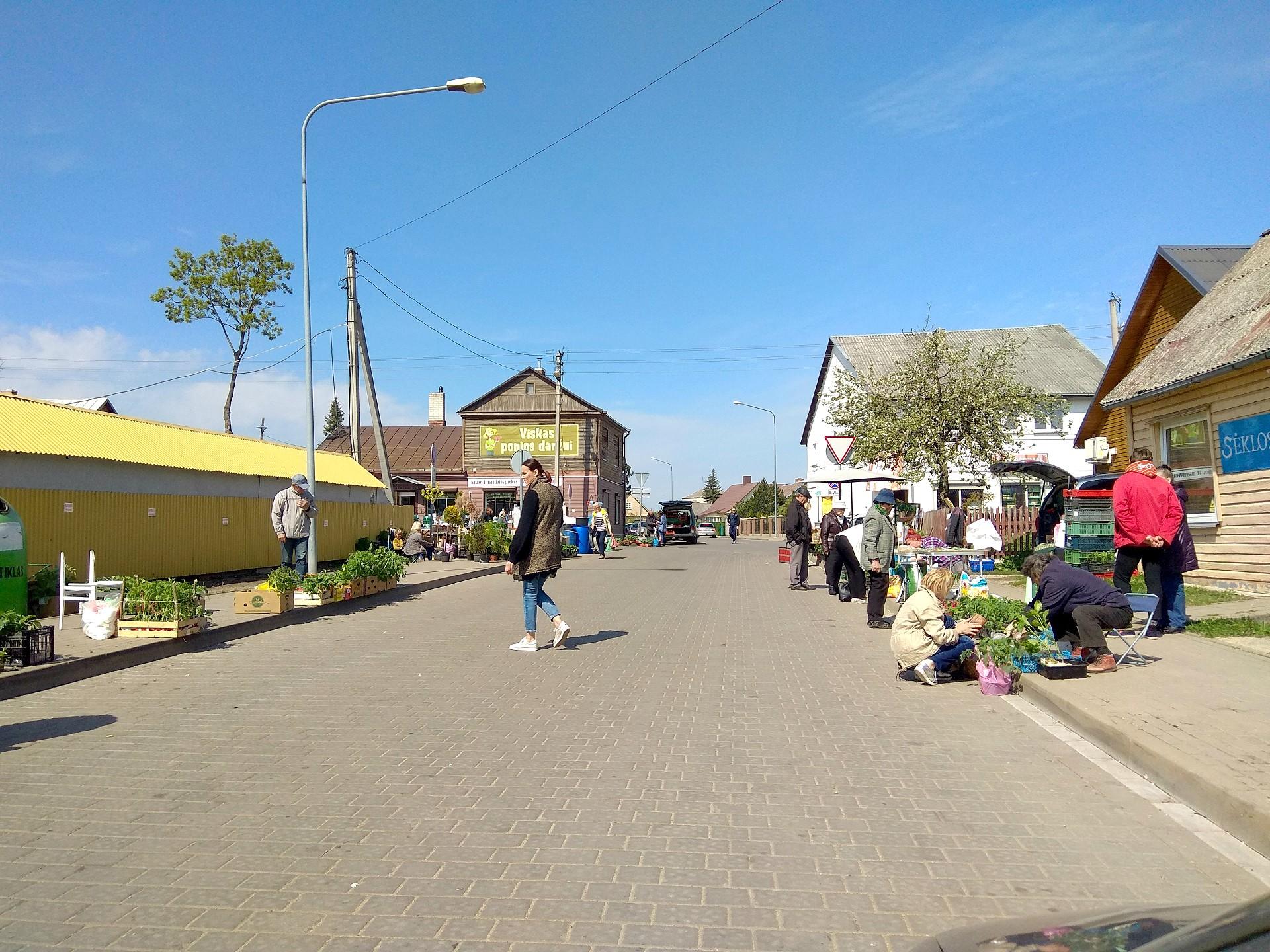 Pastarosiomis dienomis centrinėje miesto turgavietėje prekybininkų tiek daug, kad visi niekaip neišsitenka turgaus teritorijoje ir prekiauja aplinkinėse gatvėse. D. Kuprijanovo nuotr.