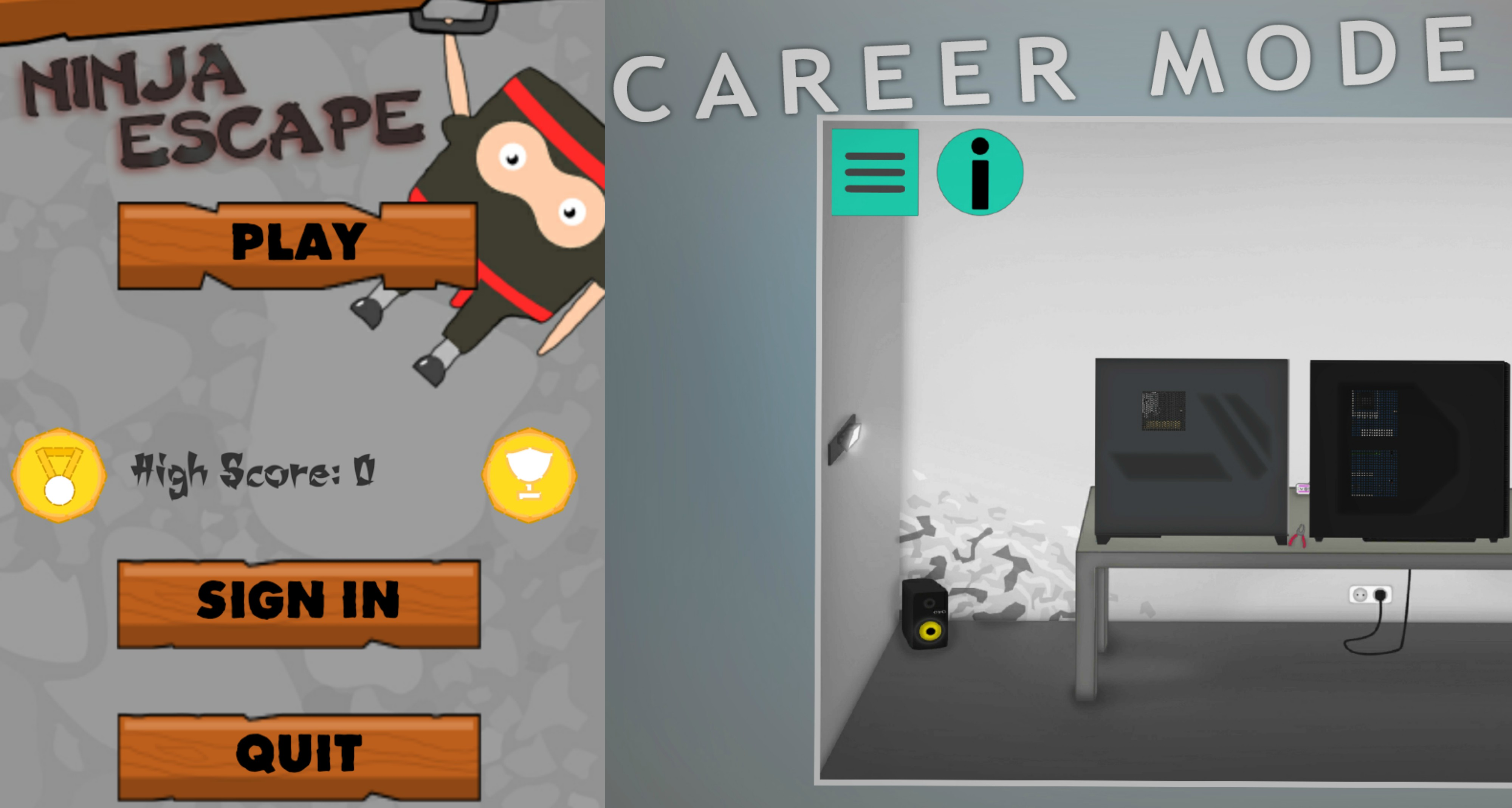 """Vienas pirmųjų ketveriukės """"kūdikių"""" – žaidimas, kurio pagrindinis herojus – Nindzė. Jį į savo elektronikos įrenginius yra atsisiuntę ir išbandę 500 vartotojų. Simuliacinį žaidimą """"PC Architect"""", prie kurio jauni kėdainiečiai pluša jau visus metus – tūkstančiu kartų daugiau – per 500 tūkstančių žmonių."""