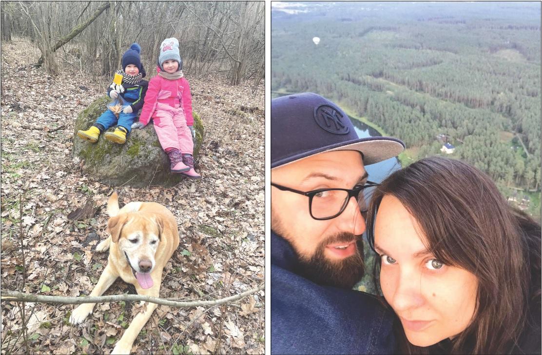Po darbo Gintarė skuba namo pas šeimą – vyrą ir du mažus vaikus – Leoną ir Ūlą. Jos laukia ir ištikimas šuo./Asmeninio archyvo nuotr.